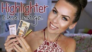 Highlighter challenge | Celý obličej v třyptivých tónech
