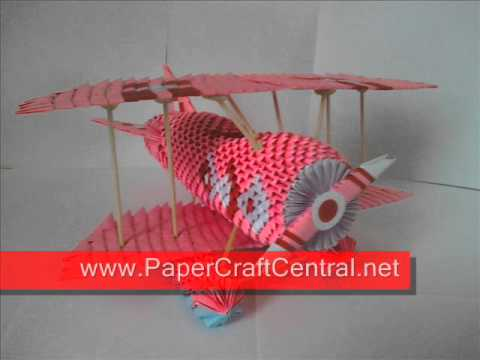 3d Origami Air Plane By Papercraftcentral Youtube