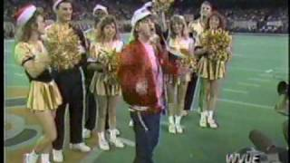 WVUE Seth Green at 1991 Saints vs Raiders Halftime show