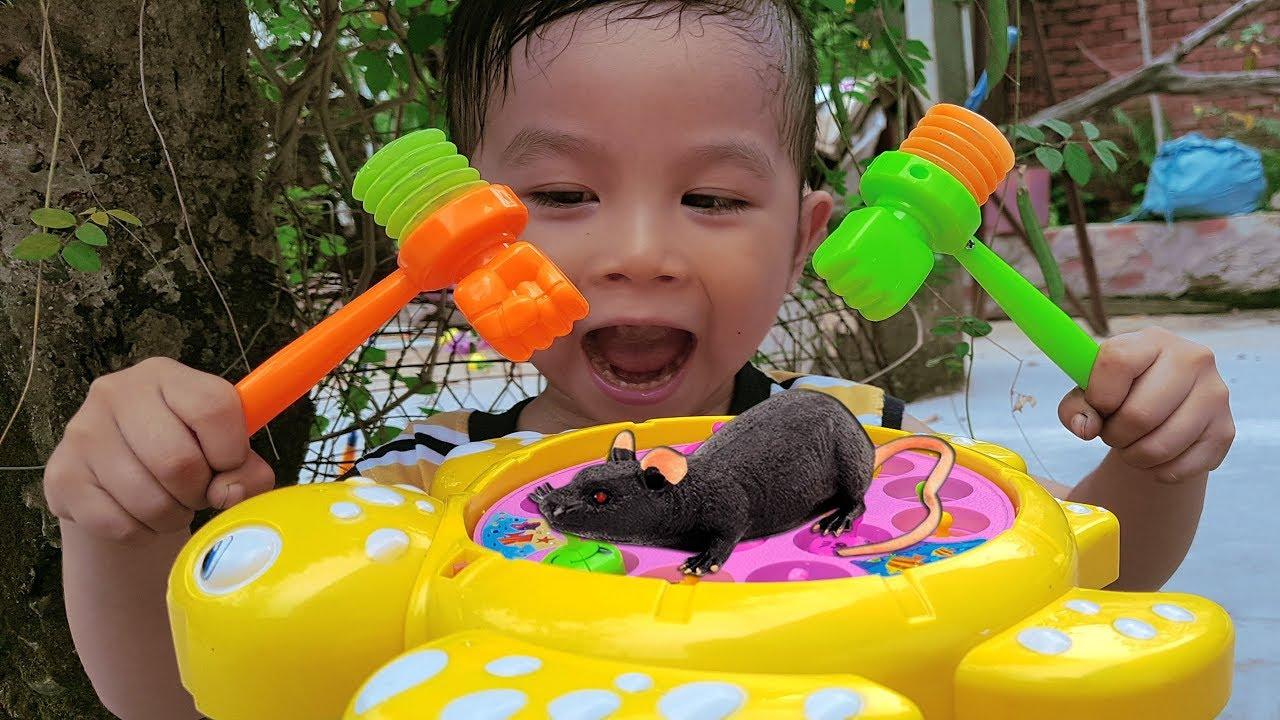 Trò Chơi Đập Con Chuột ❤ ChiChi ToysReview TV ❤ Đồ Chơi