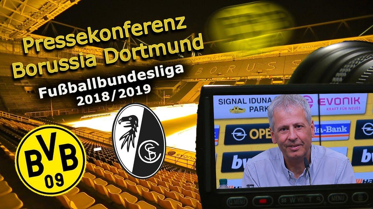 Borussia Dortmund - SC Freiburg: Pk mit Lucien Favre und Michael Zorc