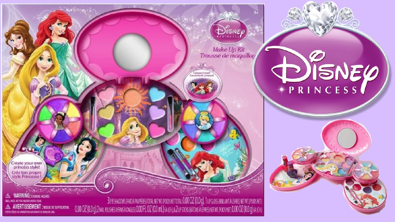 makeup kits for little girls. disney princess makeup kit toy unboxing for kids -- how to make up diy !!! makeup kits little girls s