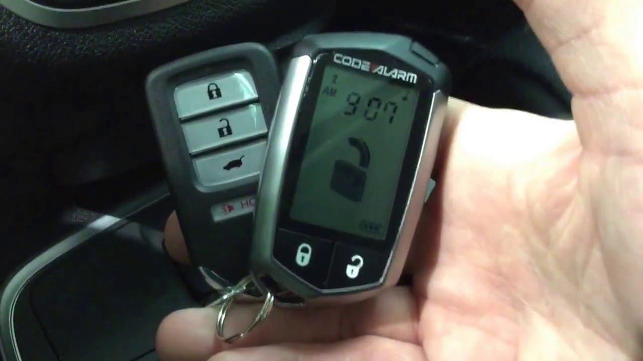 Honda CRV Remote Starter with Code Alarm Remote Starter ...