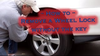 Locking Wheel Nut Removal - without the key
