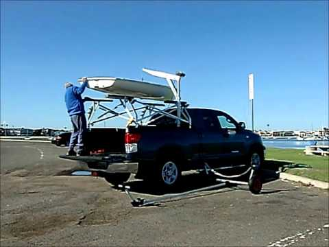 How to load a LASER sailboat on a TRUCK - YouTube