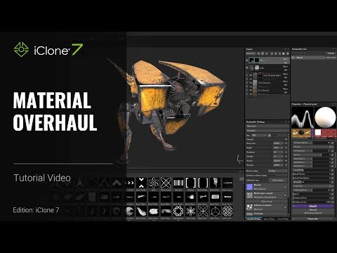 iClone 7 Tutorial - Substance Painter: Material Overhaul