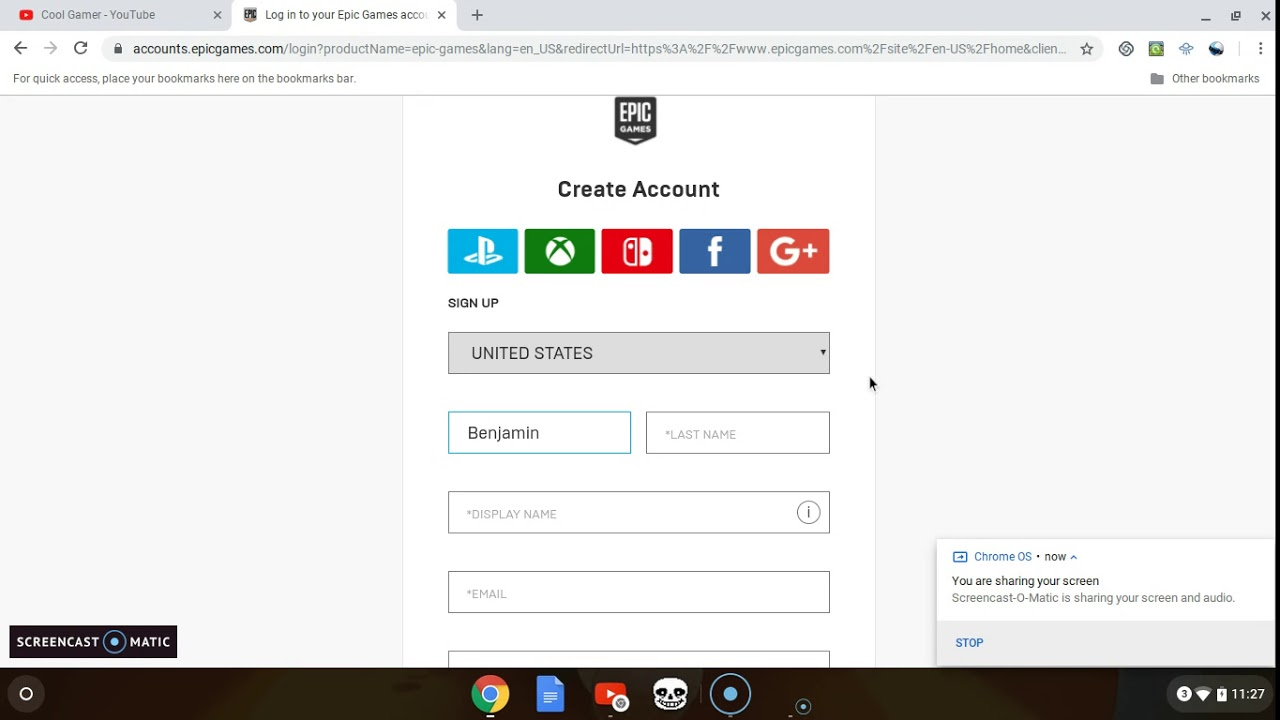 How to make an epic games account - YouTube