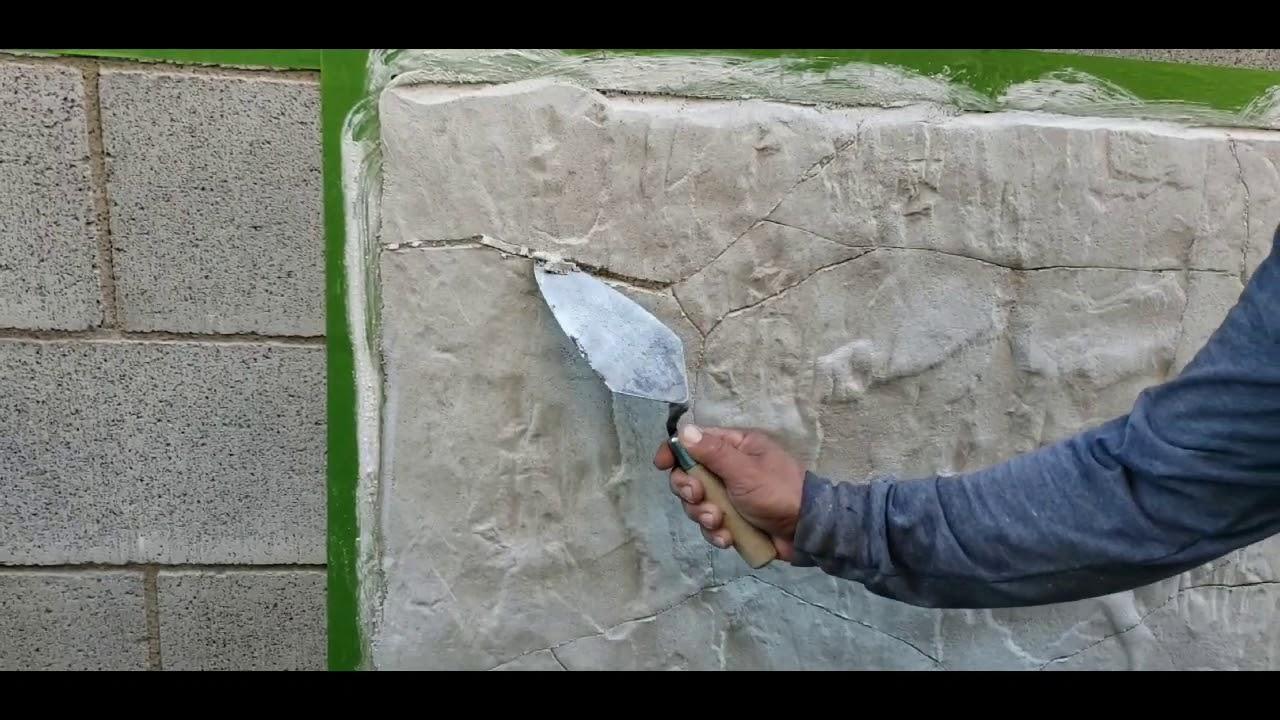 Cómo Hacer Piedra Plana Con Cemento Blanco Youtube