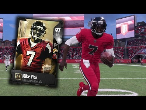 HE CANT BE STOPPED! ULTIMATE LEGEND MIKE VICK!! MADDEN 18 ULTIMATE TEAM