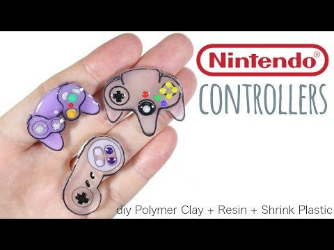 How to DIY 3D Nintendo Controllers Polymer Clay/Resin/Shrink Plastic Tutorial