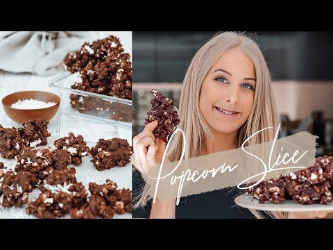 The Best Chocolate Popcorn Slice Recipe | Healthy, Vegan, Gluten Free, Refined Sugar Free