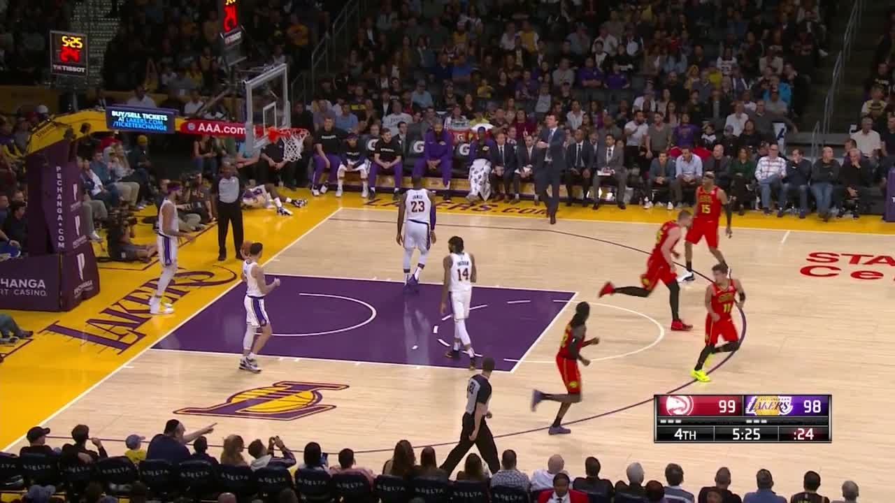 4th Quarter One Box Video Los Angeles Lakers Vs Atlanta Hawks