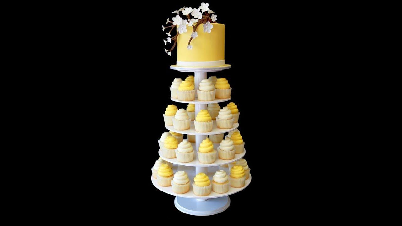 Baby Shower Cupcake Tower - YouTube