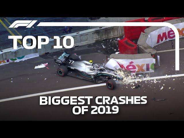 Top 10 Biggest F1 Crashes of 2019