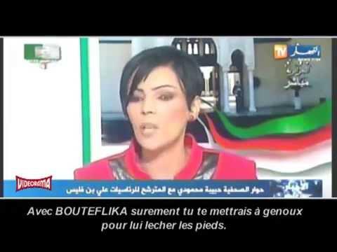 Benflis qui remet en place la Journaliste Débile d'EL YATIMA Hamida Mahmoudi