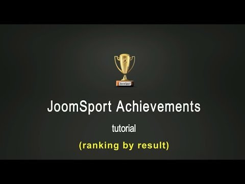 JoomSport Achievements Tutorial - (by Results)