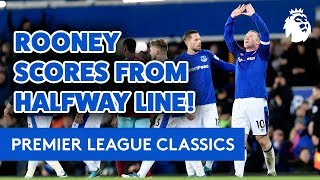 ROONEY SCORES FROM HALFWAY LINE TO SEAL HAT-TRICK! | PREMIER LEAGUE CLASSIC