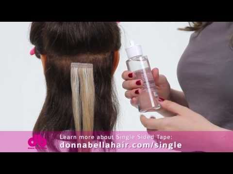 Tape in hair extensions tape hair extensions donna bella hair donna bella how to remove single sided tape hair extensions pmusecretfo Image collections
