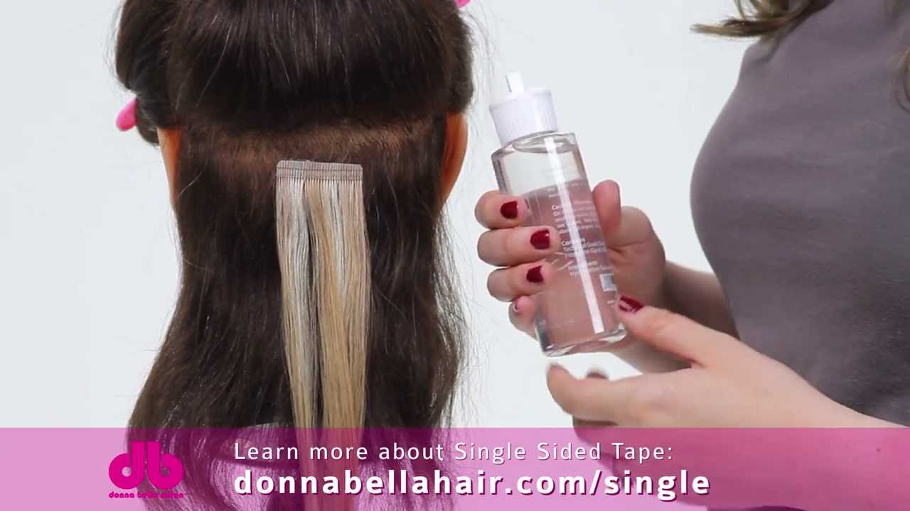 Donna Bella How To Remove Single Sided Tape Hair
