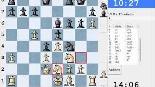 Scandinavian Defence: LIVE Rapid #48 vs Gluecifer (1870) - Scandinavian (center counter) (B01)