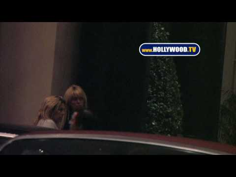 EXCLUSIVE: Dina Lohan Leaves Beverly Wilshire Hotel