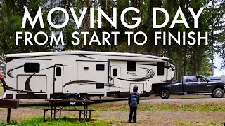 RV MOVING DAY from START to FINISH : RV Fulltime w/9 Kids