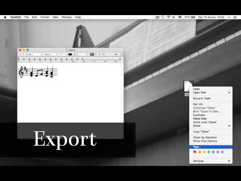Cavatina - Export to MusicXML