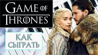 How to play Game of Thrones - piano tutorial (Как сыграть тему из Игры Престолов на фортепиано)