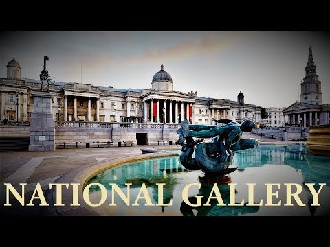 Trafalgar Square & The National Gallery, London. Nov. 2017.