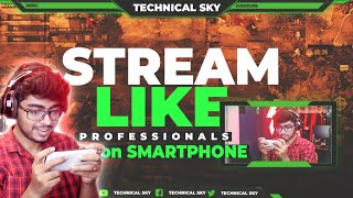 How to Stream PUBG Mobile Live from Android Phone PROFESSIONALLY