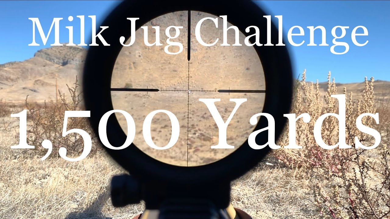 Download 1,500 Yard Milk Jug Challenge! 6.5 Creedmoor Bolt Action AR-10