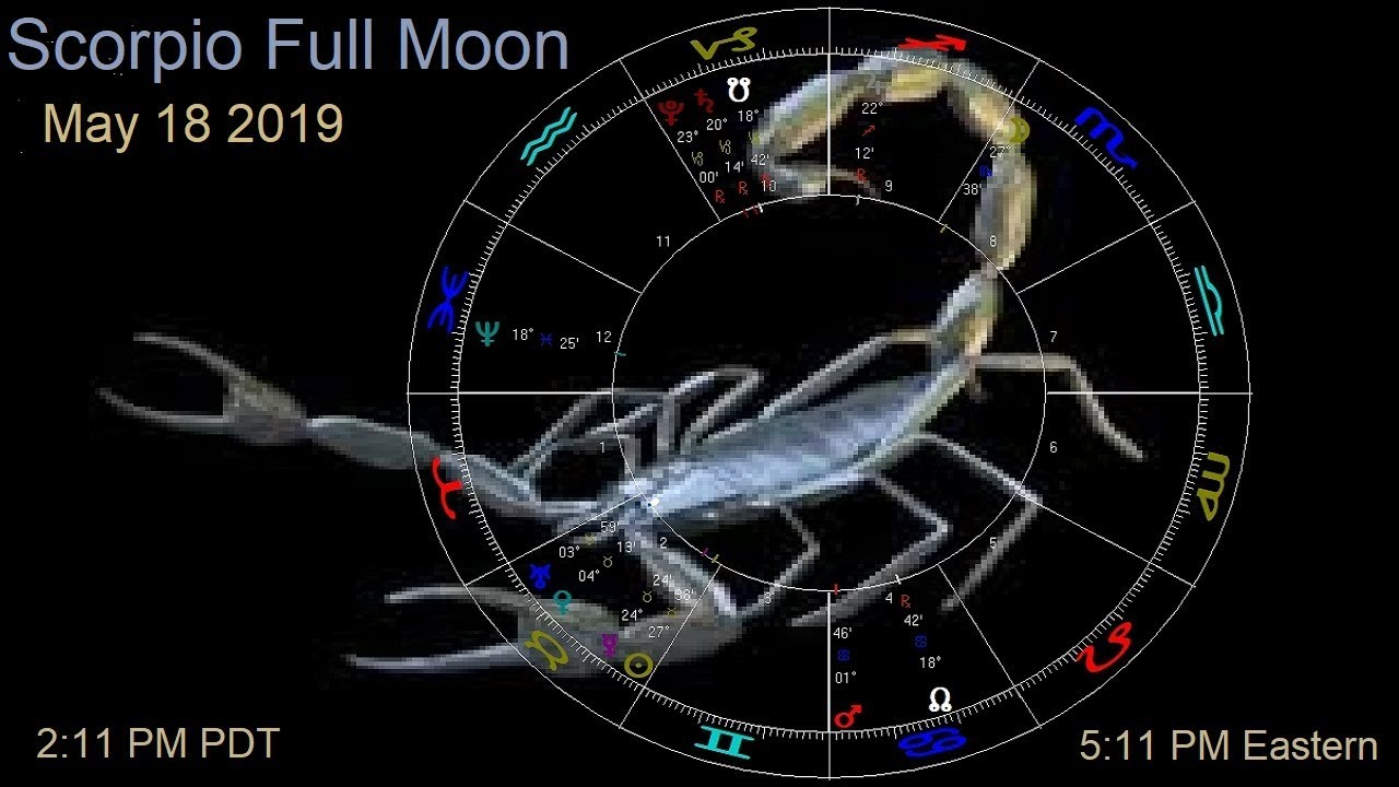 Astrology May 14-20 2019 - Scorpio Full Moon - Venus conj Uranus