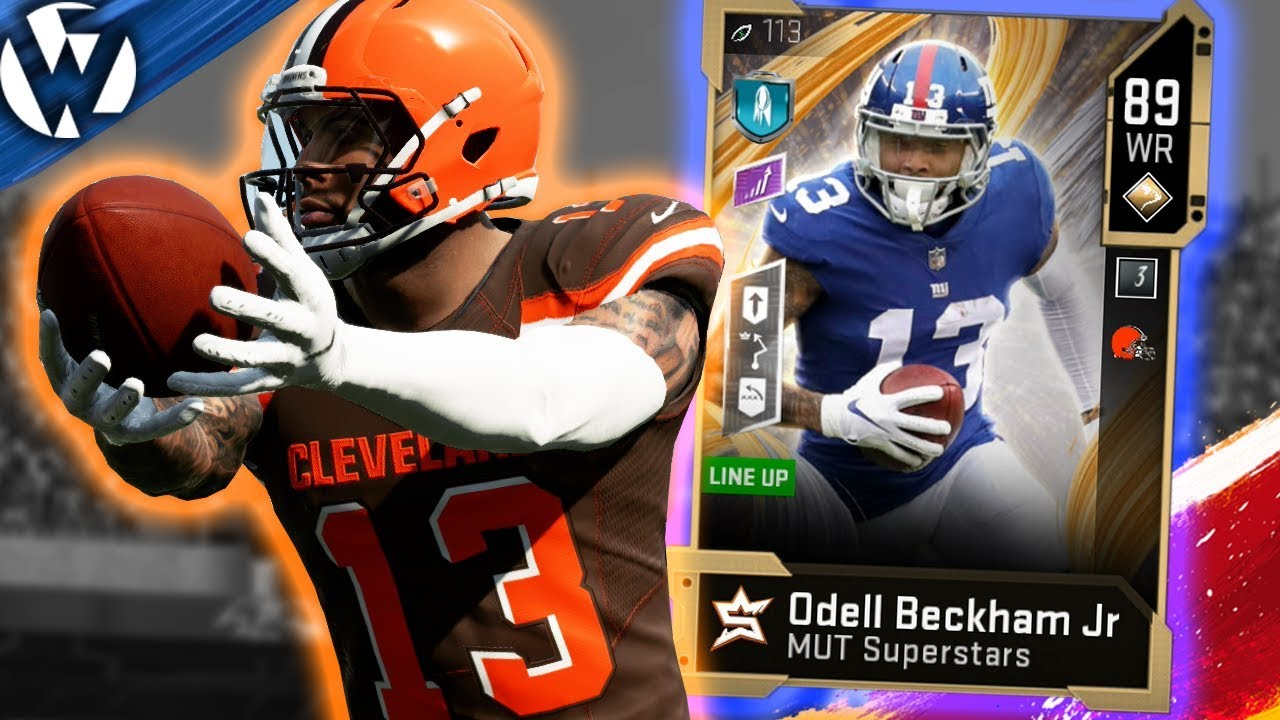 Mut Superstars Odell Beckham Jr Madden 20 Gameplay Youtube