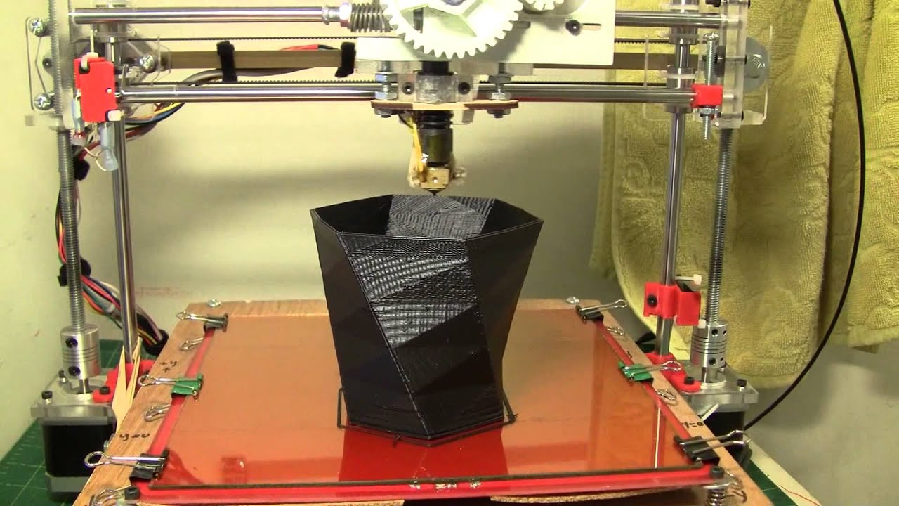 Printing a vase with fus3d printer my home made 3d for Made with 3d printer