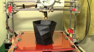 Printing a vase with FUS3D Printer - My home made 3D Printer(FUS3D - a DIY - home made 3D printer. Made from easily obtainable parts, cheap but fully functional, and doesn't break the bank. Cost around $250 The entire ..., 2013-07-13T12:00:21.000Z)
