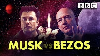 The Silicon Valley Space Race: Elon Musk vs Jeff Bezos - BBC