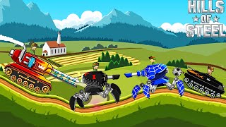 2 VS 2 MODE ARACHNO TANK ALL BOOSTERS and COLORING   Hills of Steel Game for Kids