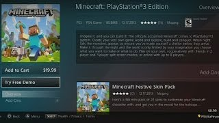 Minecraft PlayStation 3 Edition Now Avaliable & Demo Released
