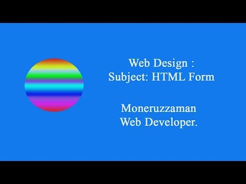 How To Create Form By HTML
