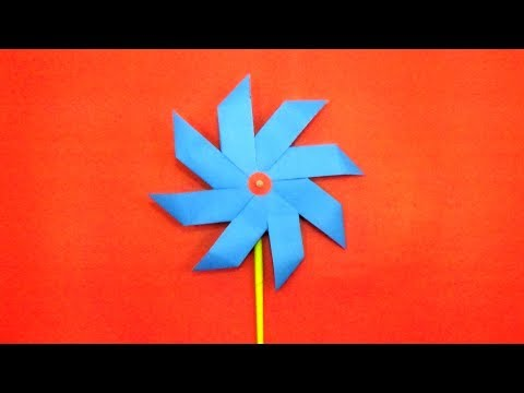 How To Make Paper Pinwheels At Home - Diy Easy Origami Tutorial - Paper Pinwheels Craft Instructions