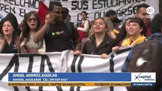 Así se vivió la marcha estudiantil en Bogotá