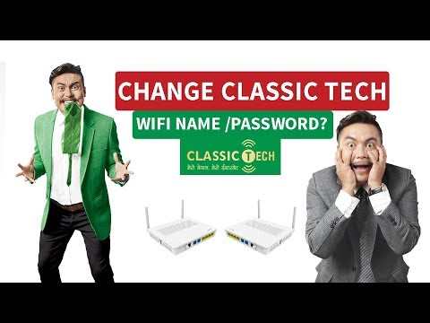HOW TO CHANGE WIFI NAME(SSID) AND WIFI PASSWORD OF CLASSIC TECH 2019 ।DOCTORZENIUS PRODUCTION।