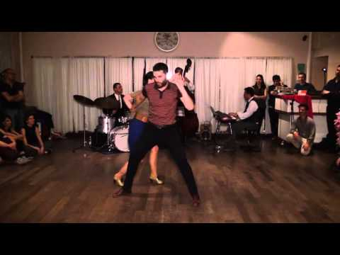 Slow Lindy, Blues and Lindy hop demo by Fabien & Lisa Torino 2016