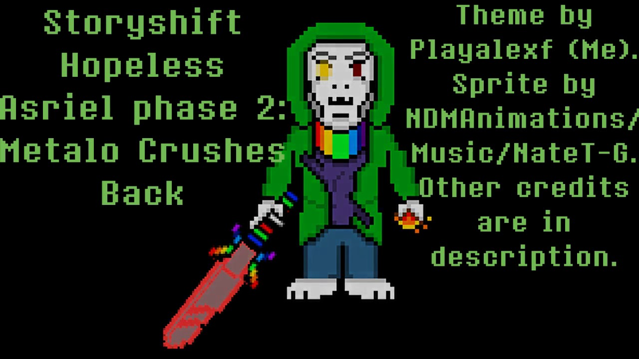 Storyshift Hopeless Asriel phase 2 - Metalo Cruches Back (Extended)