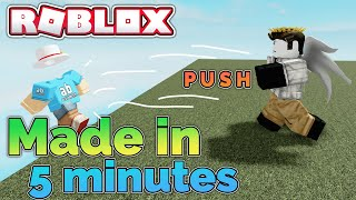 I made a Roblox game in 5 minutes...