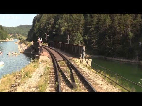 Mountain Railroad - Train Driver's View - Telgart, Central Europe, SK