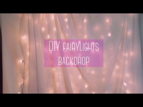 $16 DIY Fairy Lights Backdrop (Without PVC pipe)|Ki.