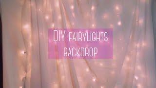 $16 DIY Fairy Lights Backdrop (Without PVC pipe) Ki.