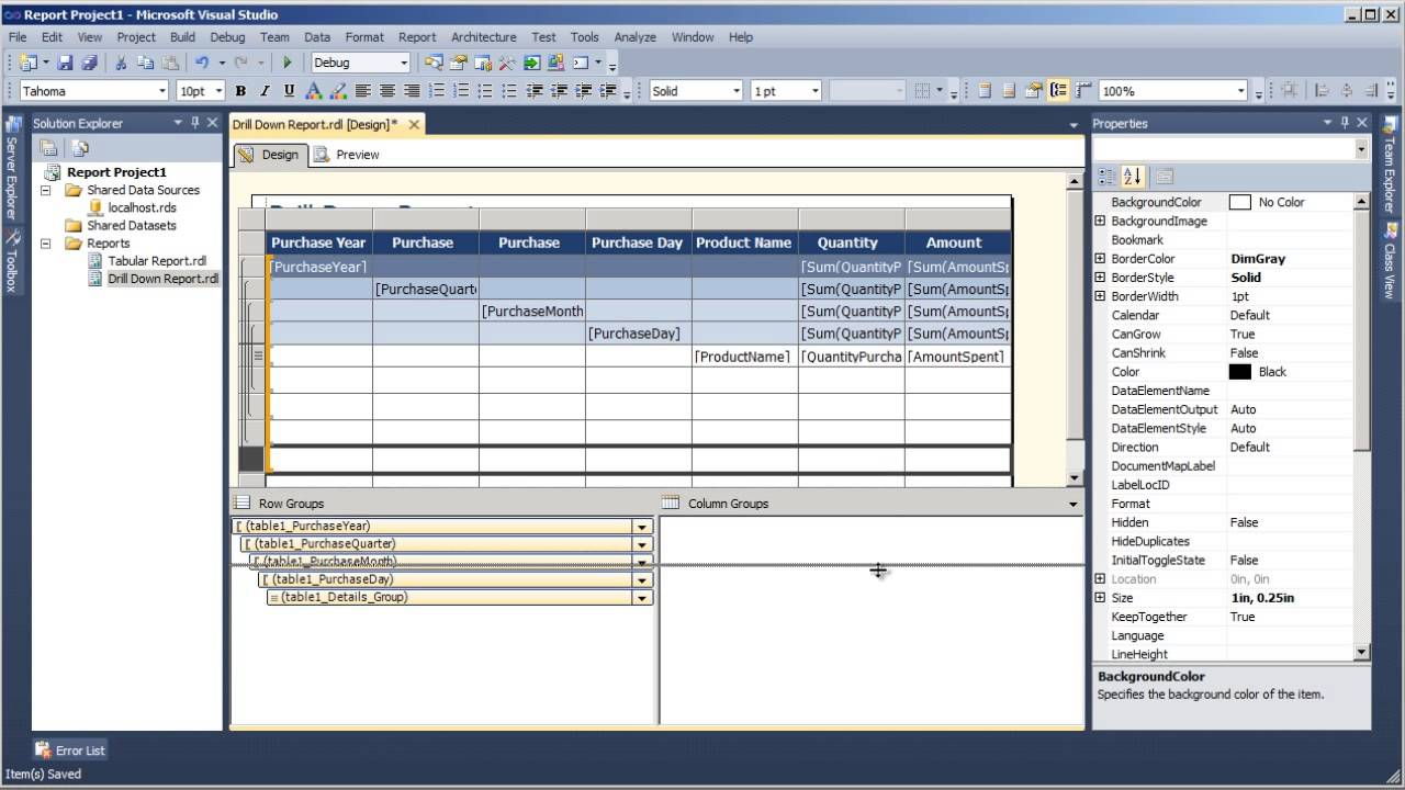 Creating Reports with SSRS 2012 Tutorial: Adding Summary Rows | packtpub com