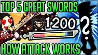 Top 5 Great Swords - Monster Hunter World! (Highest Damage + Attack Value Calculation Explained)